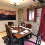 Cosy dining room in The Cow Shed